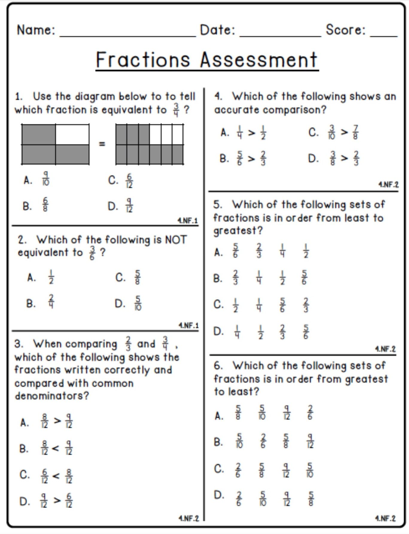 Pin By Saundra Eldridge On Fractions 4th Grade Math Worksheets Math Fractions Math Fractions Worksheets