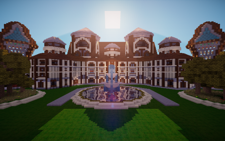 Mansion #2, creation #2535 | Mansions, Minecraft buildings ...