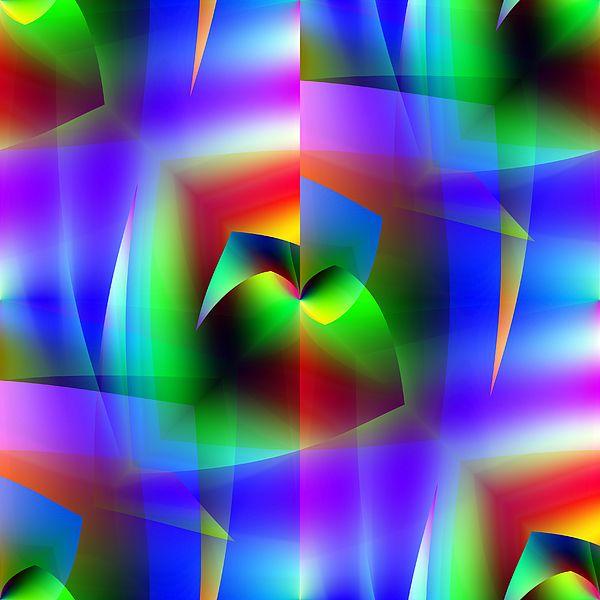 Beautiful vibrant digital wall art, home decorating, blue art,