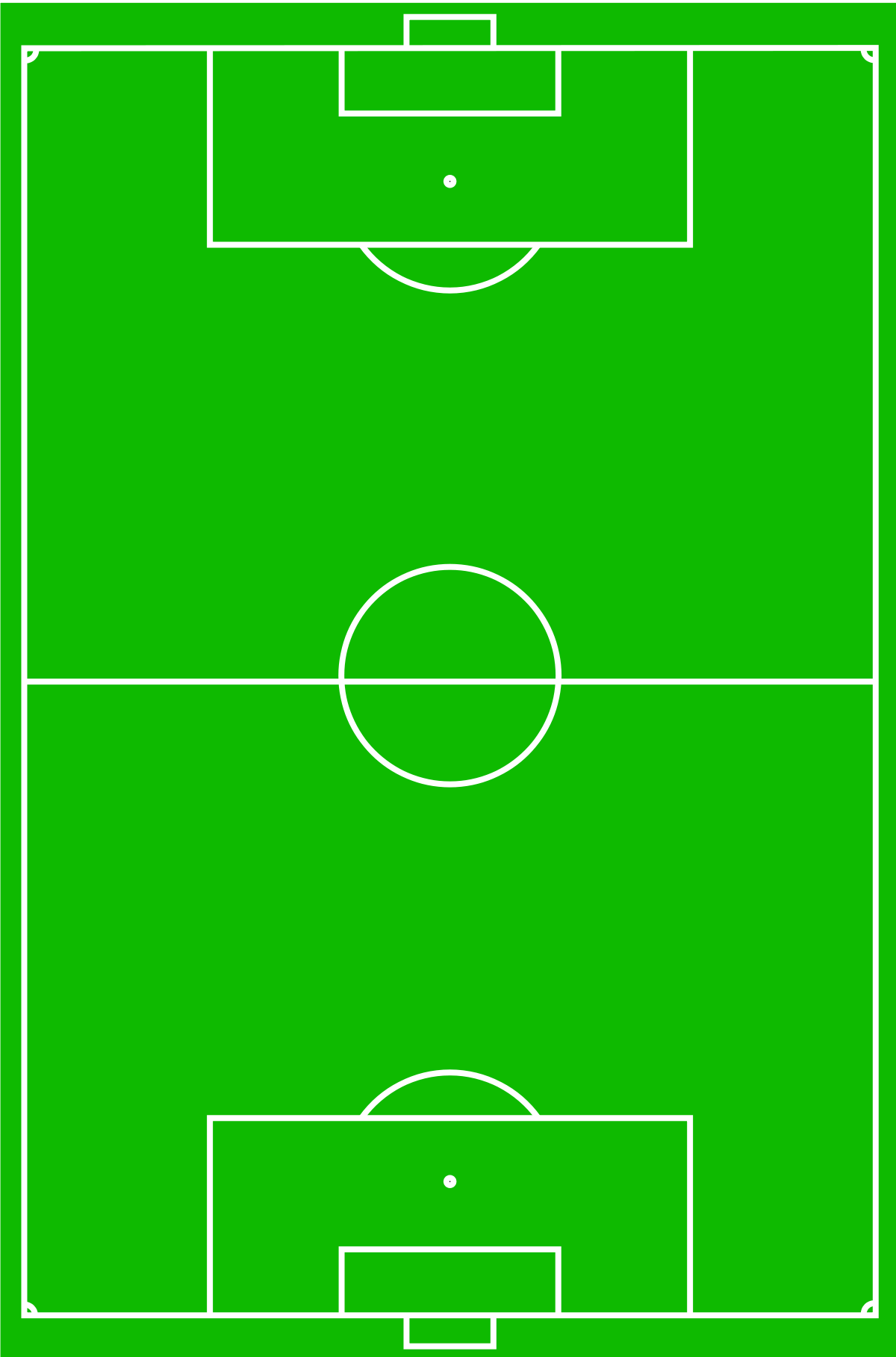 Association Football Positions Wikipedia Football Field Football Pitch Football Positions