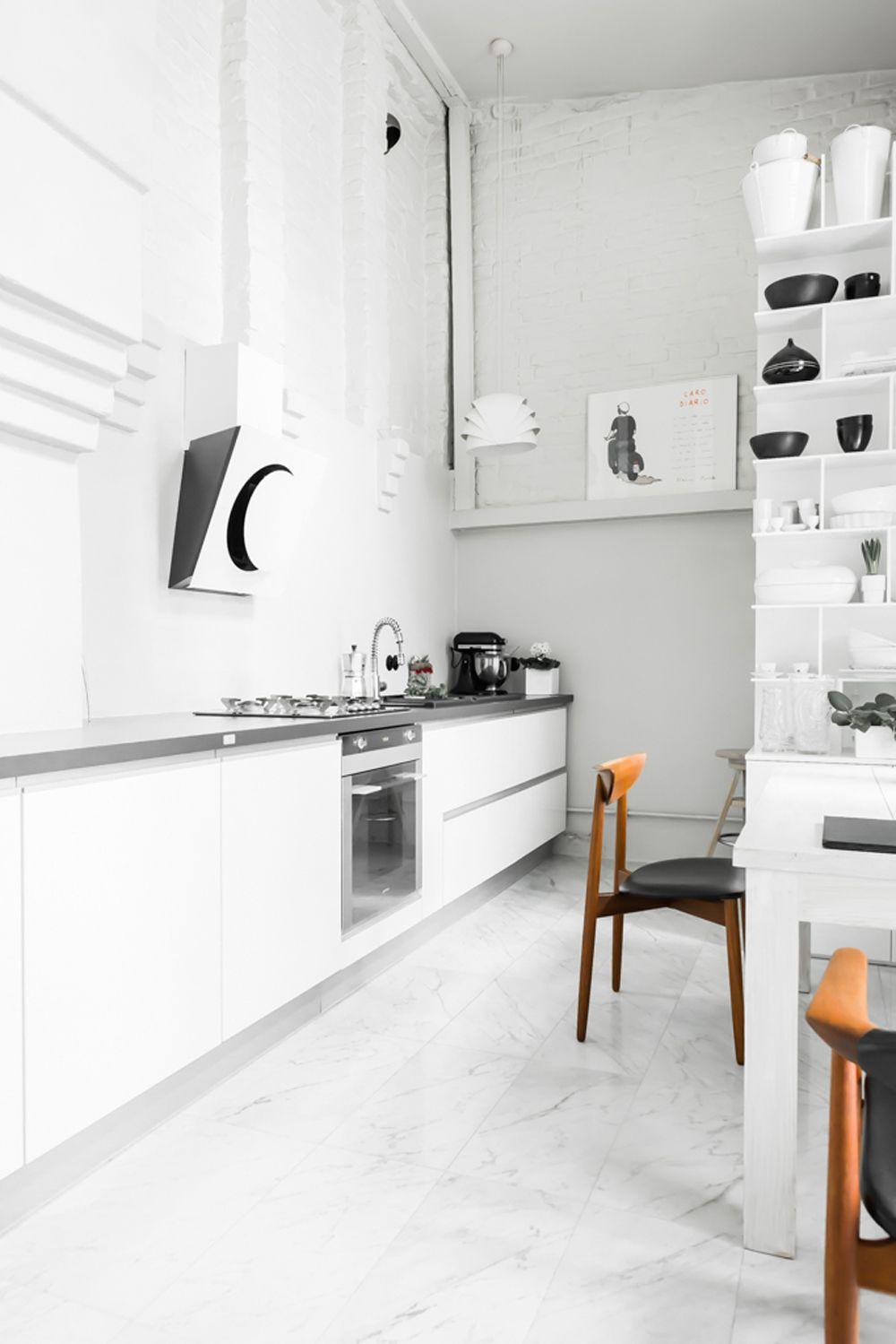 The Perfect All White Scandinavian Interior Mobel Kokken