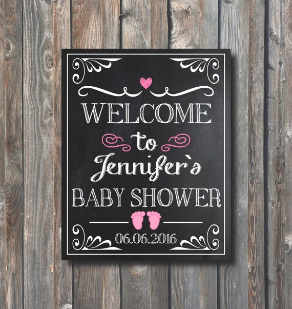PRINTABLE Baby Shower SignPersonalized To
