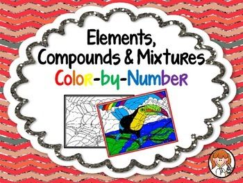Elements, Compounds & Mixtures Color-by-Number - 2 Versions ...