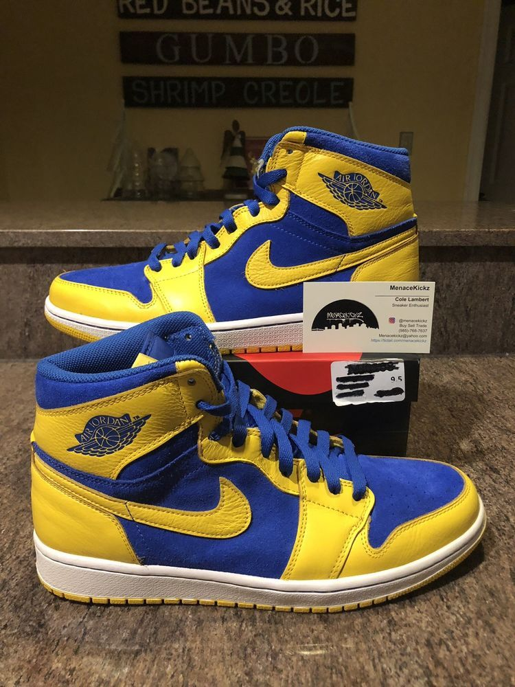 "pretty nice 8adc1 3187a Nike Air Jordan 1 Retro High OG ""LANEY"" SIZE 9.5 555088-707 RARE LIMITED  CLEAN!"