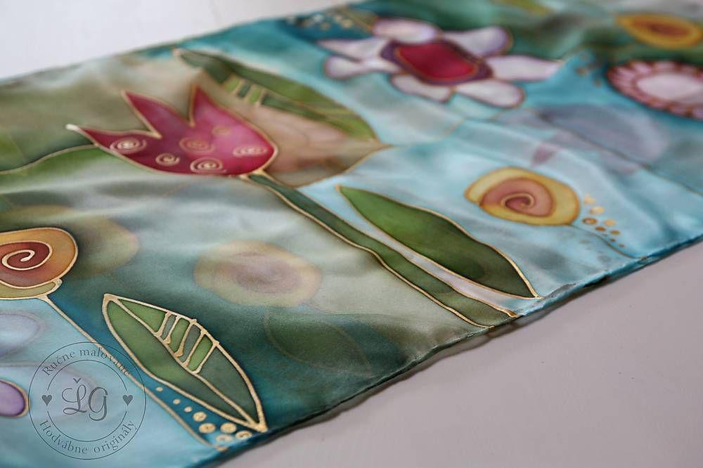 Šály - šál FLOWERS - 6586383_