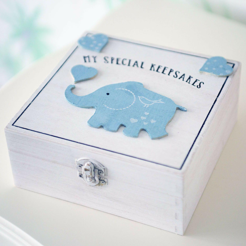 Wooden Memory Keepsake New Arrival Baby Box Christening Gift Boy /& Girl Memories