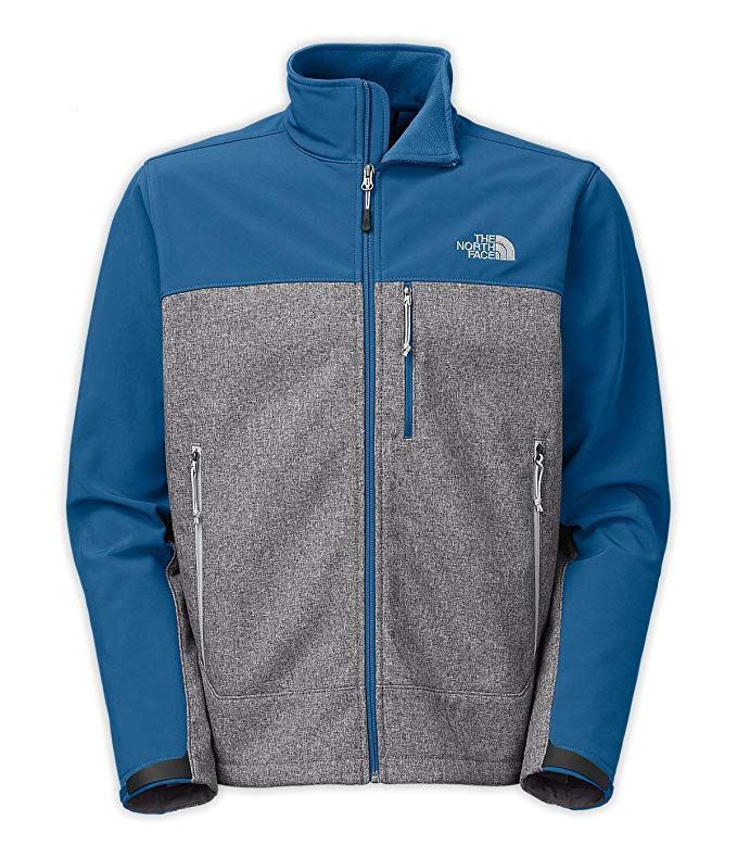 100b52ff4e0f New The North Face Men s Apex Bionic Jacket High Rise Grey Htr Dish Blue  Large Review