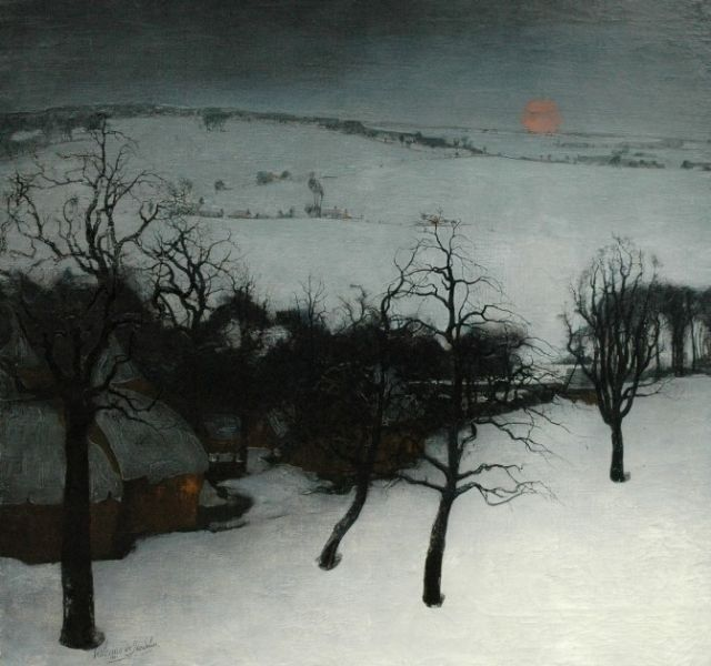 """art-is-art-is-art: """"Winter Landscape, Valerius de Saedeleer """""""