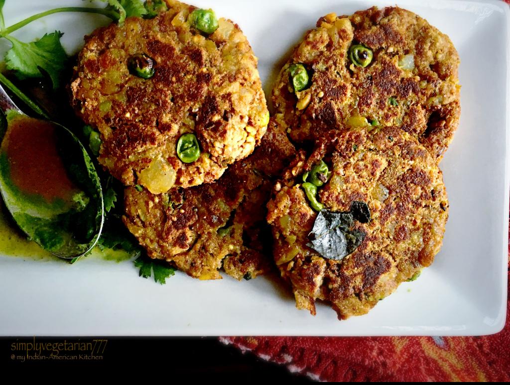 aloo matar tikki pan grilled vegetarian vegan recipes indian food recipes easy delicious on hebbar s kitchen recipes aloo tikki id=79437