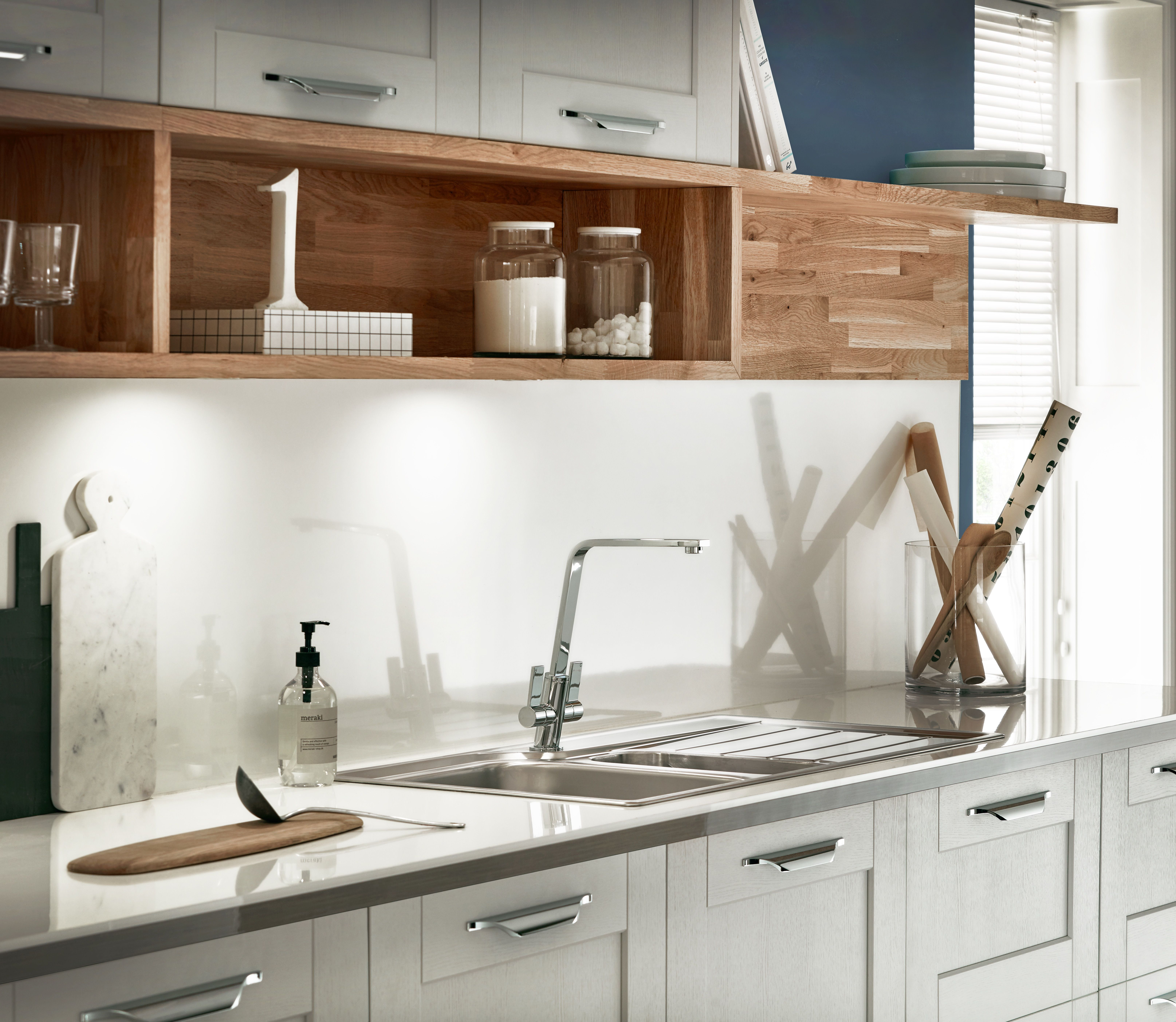 Burford Grained Light Grey Kitchen from The Shaker Collection by ...