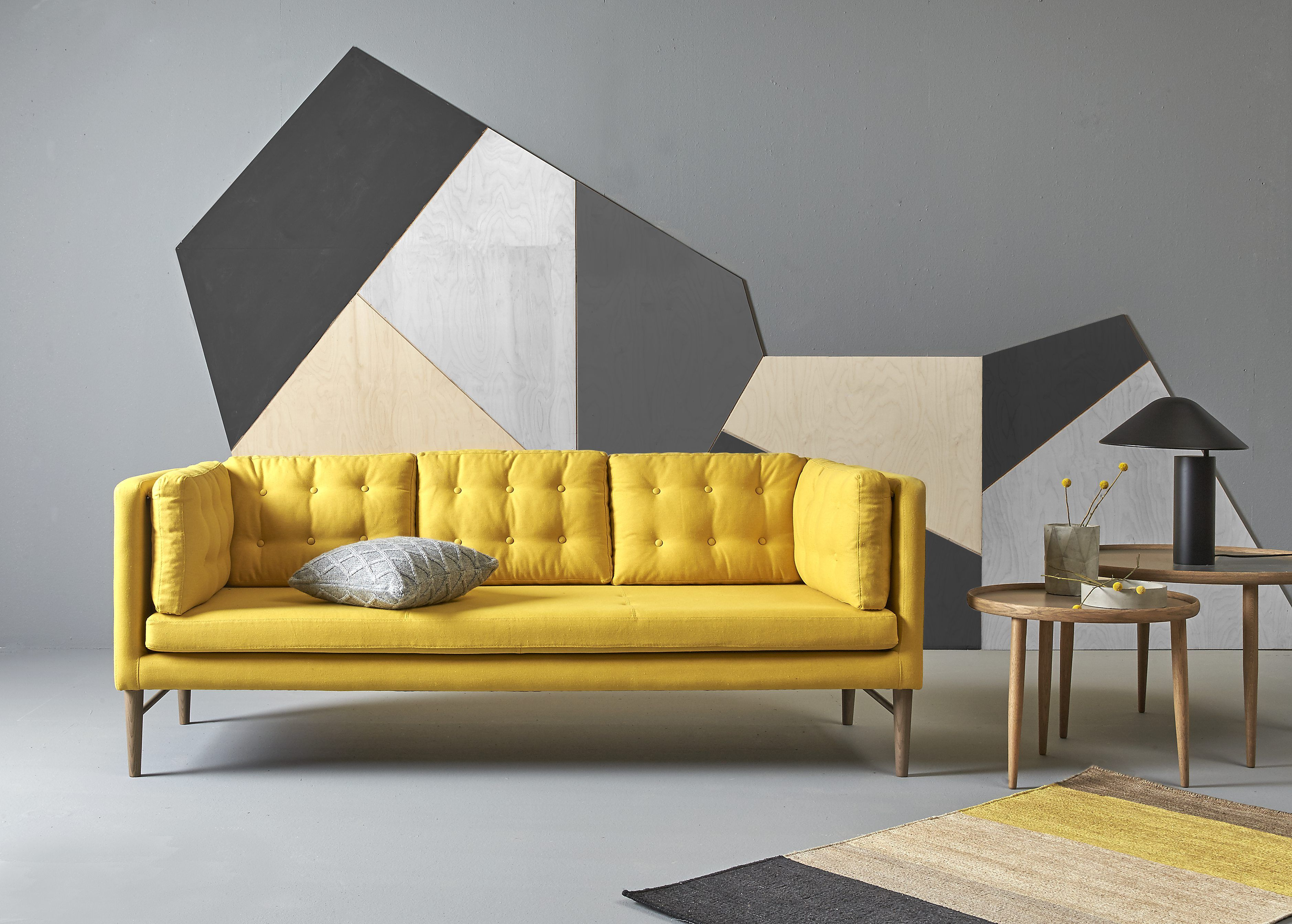 Sofa Hudson Viii Asolo Hjørnesofa Med Pufafslutning Colorful Couches Yellow