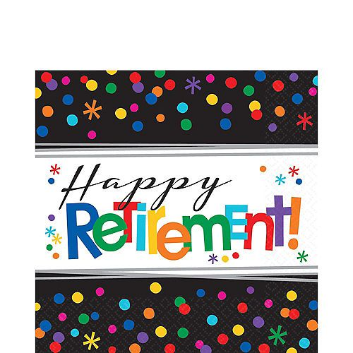 16 ct Retirement Napkins Beverage Happy Retirement Decorations Party Supply