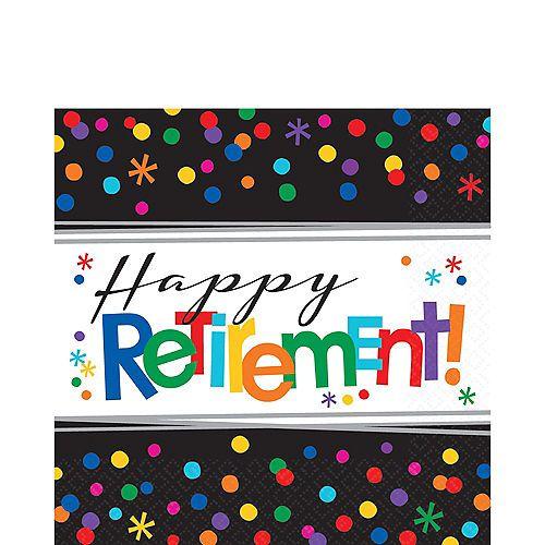16 ct Retirement Napkins Beverage Happy Retirement Decorations Party Supply
