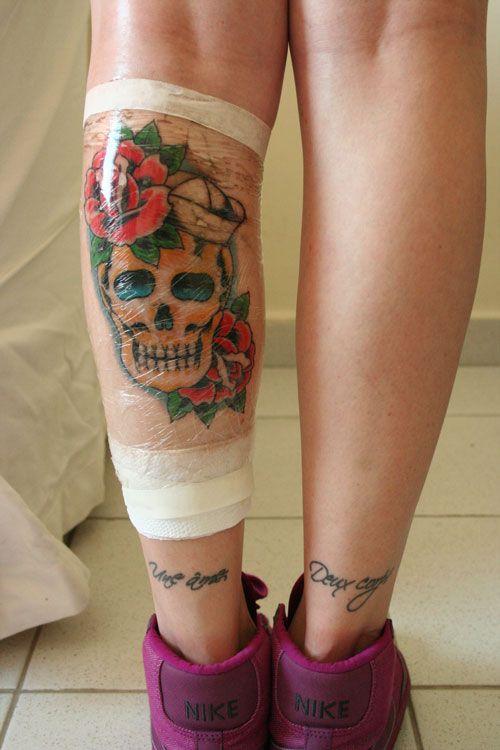 Caveira Panturrilha Tatuagem Na Perna Tatuagem Panturrilhas