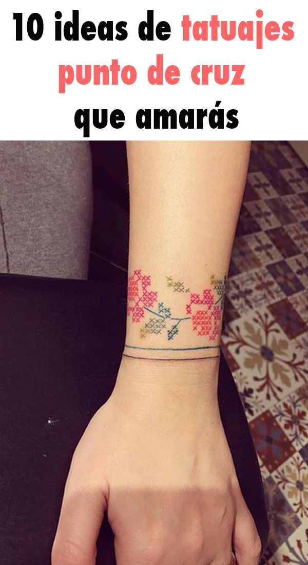 10 ideas de tatuajes punto de cruz que amarás