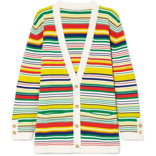 Striped wool cardigan Loewe Professional Online Lowest Price For Sale Best Buy Outlet K1hXs1zp