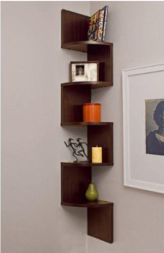 Corner Wall Shelves Zig Zag Shelf Mount Trophy Display Rack Picture Stand Wood Shelves Large Corner Shelf Wall Mounted Shelves