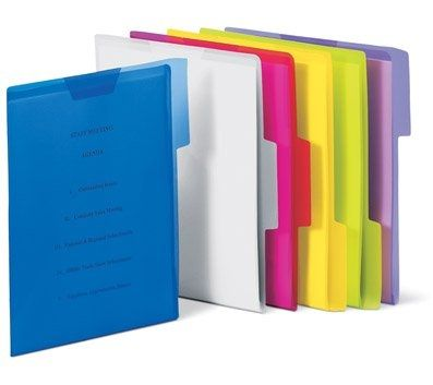 Pendaflex Poly View Folders, Letter, Assorted Colors, 6\/PK The - office depot