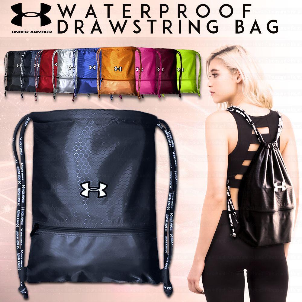 [$5.99](▽70%)UNDER ARMOUR Waterproof Drawstring Bag◁Sports Backpack/Travel  Bag/Shoe Bag/Shoulder Bag/ Soccer Bag