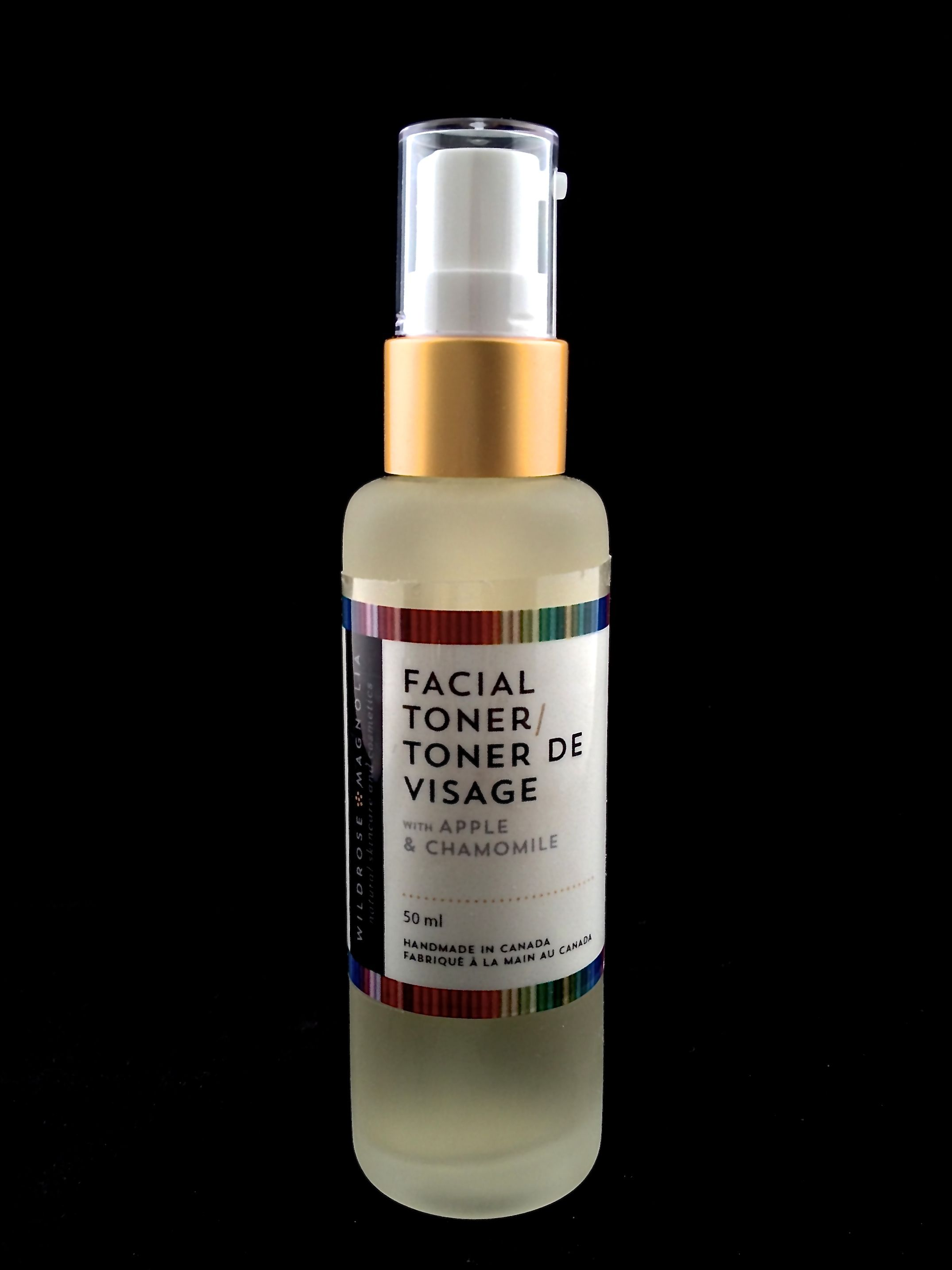 Apple and Chamomile Toner Alpha hydroxy sourced from