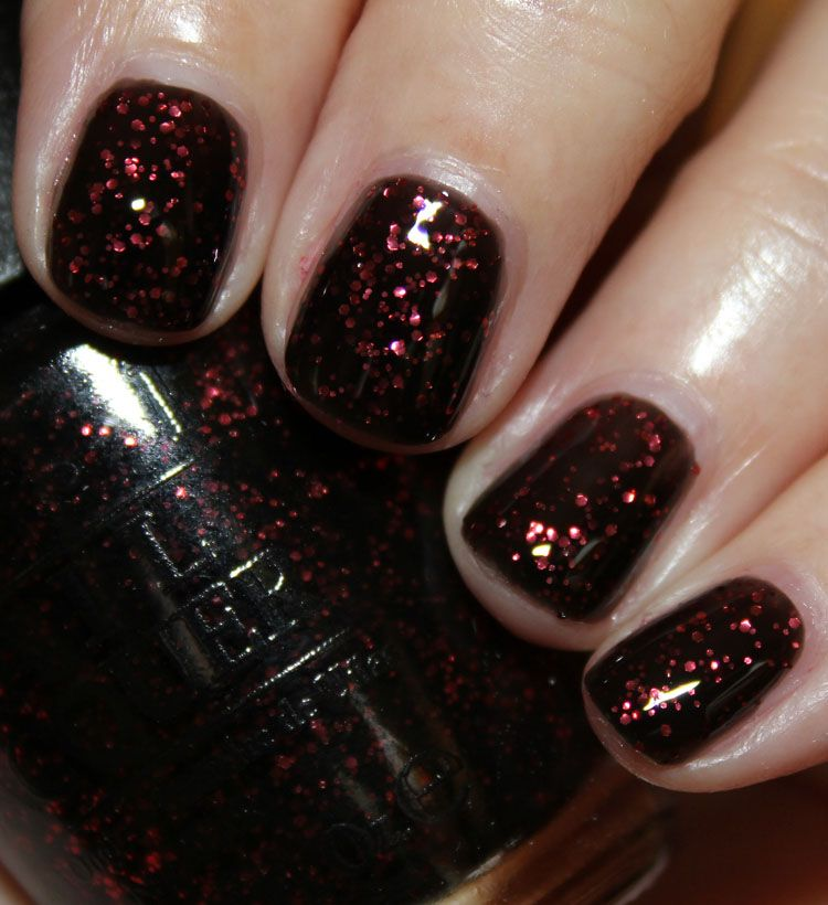 OPI Today I Accomplished Zero (inspired by Coke Zero) | polished ...