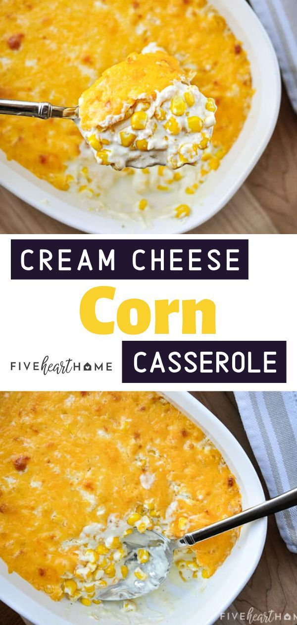 The perfect Thanksgiving side dish on Pinterest! This Cream Cheese Corn Casserol…