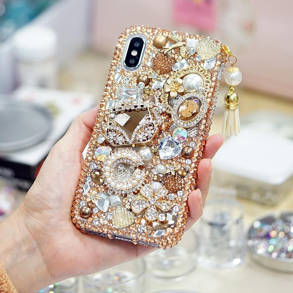 Golden glory design with tassel phone charm style 496