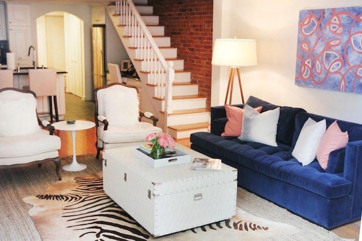 Blue sofa Carpet
