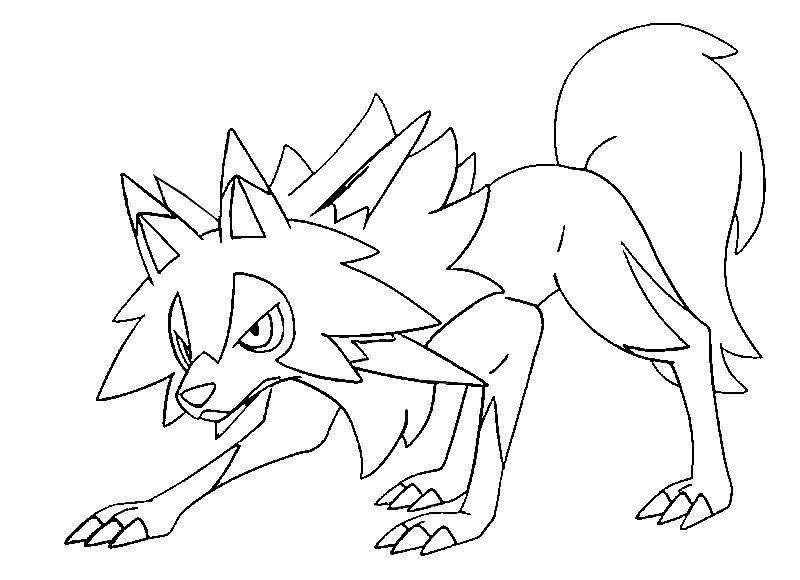 Lycanroc forma diurna | Pokemony | Pinterest | Pokémon, Coloring ...
