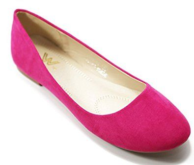 Amazon.com | Walstar Shoes New Women Suede Ballet Flat Shoes Slip On | Flats