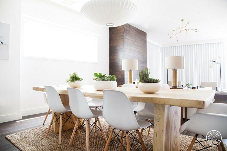 original mesa de madera con sillas blancas | Decoracion Cocina ...