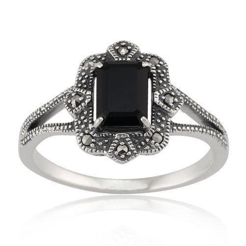 Gemondo Sterling Silver Art Deco 1.20ct Black Spinel & Marcasite Ring, http://www.amazon.co.uk/dp/B00DVIQJN0/ref=cm_sw_r_pi_awdl_j9B-vb0QGBX25
