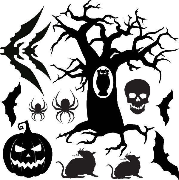 halloween vinyl decals for your wall or window - Halloween Window Decals