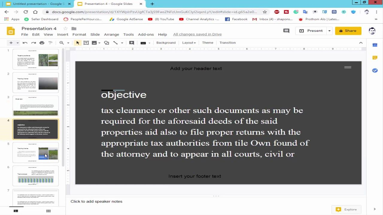 How To Add Header And Footer In Google Slides Presentation Presentation Google Slides Ads