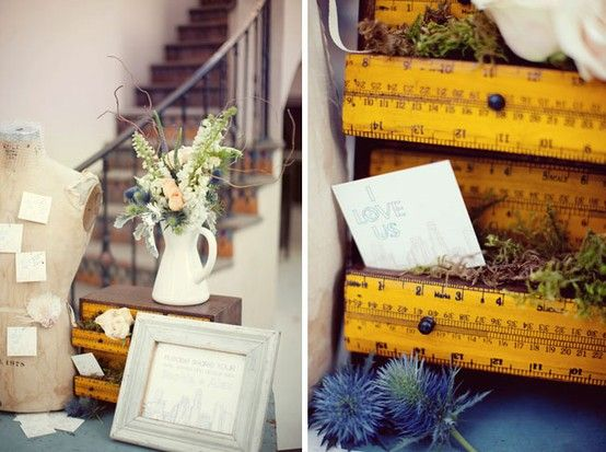 Dishfunctional Designs: You Rule! Yardsticks and Rulers Upcycled