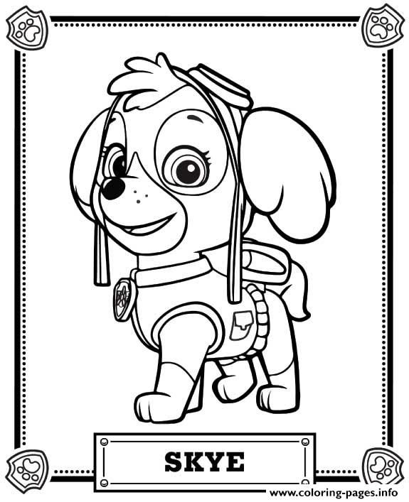 Print paw patrol skye coloring pages Andreas 1st ideas