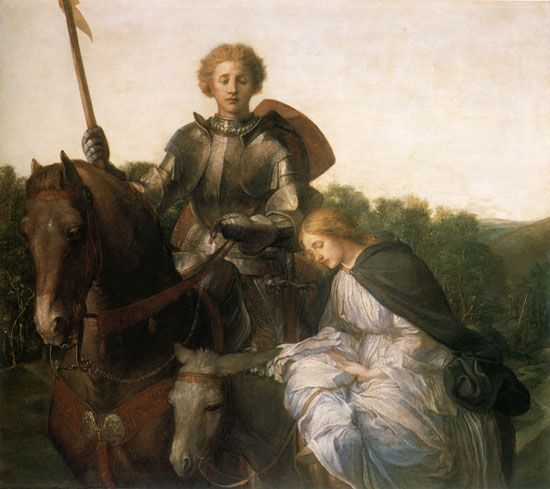 Image result for knight and lady painting