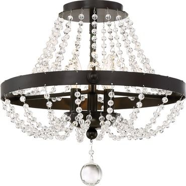 Livery ceiling semi flush light quoizel at lightology