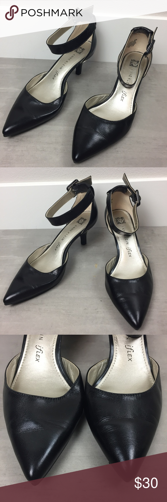Anne Klein Iflex Size 6 1 2m Kitten Heel Black Euc Anne Klein Shoes Black Heels Anne Klein