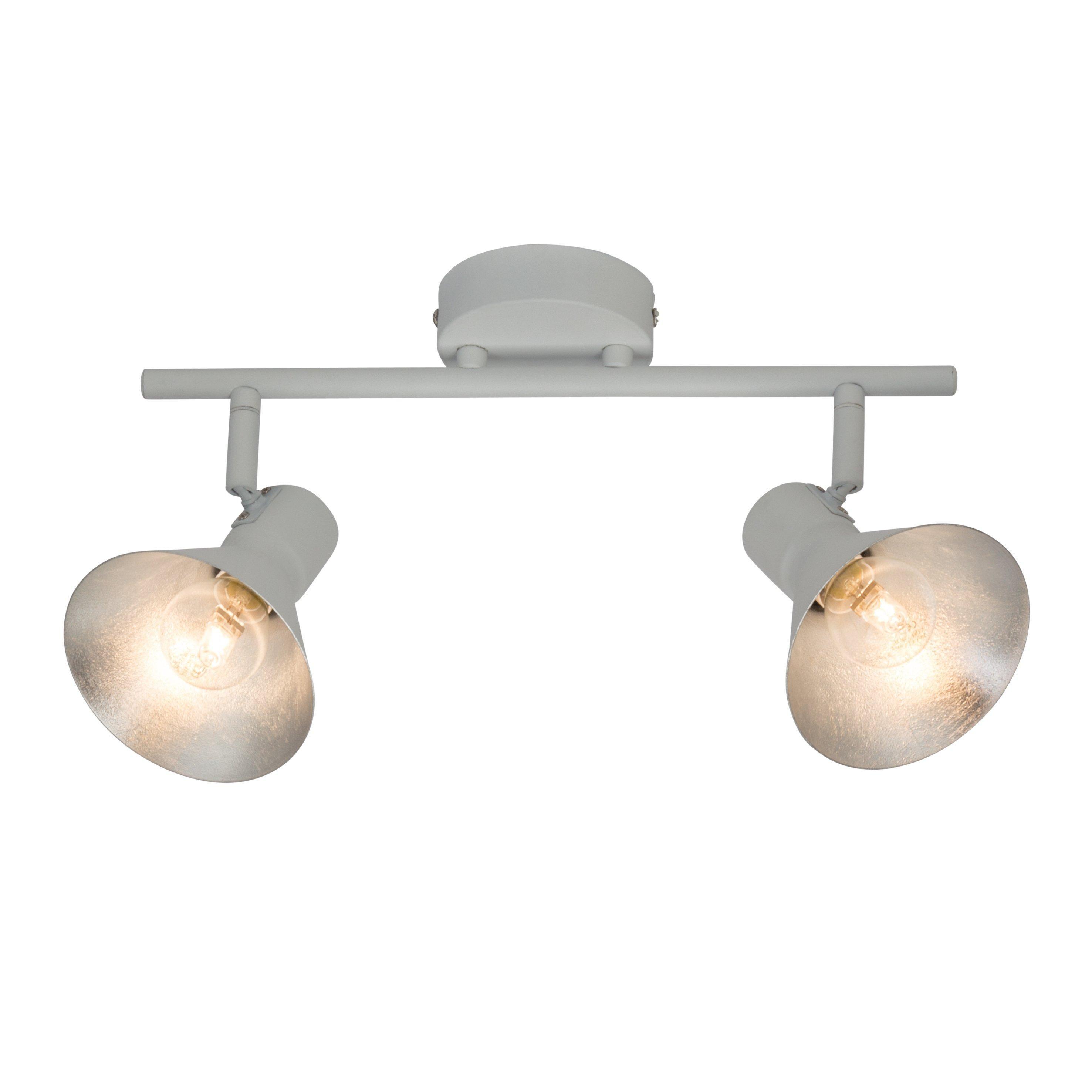 Designer Deckenleuchte Quadro Deckenleuchte Weiss Stoff Lampe