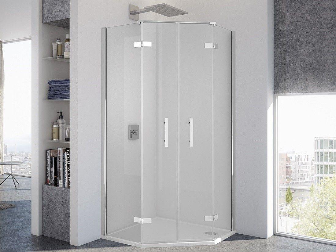 Dusche Fünfeck 110 x 110 x 200 cm Dusche, Schließfächer