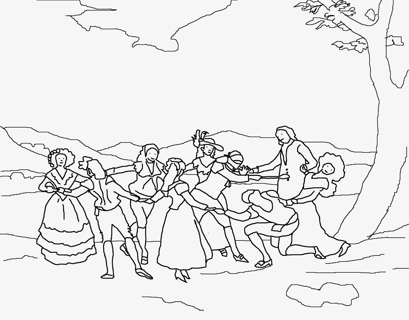 Goya La gallinita ciega Para colorear e ilustrar