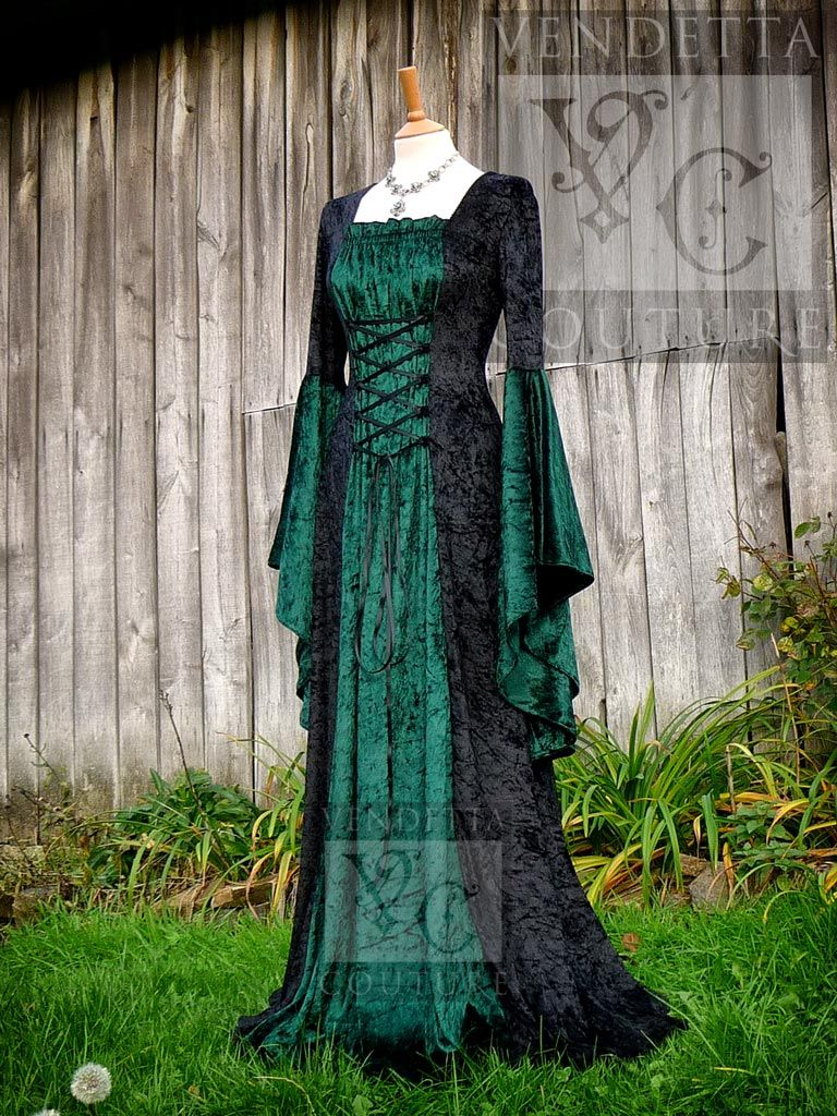 Medieval Green Wedding Dress