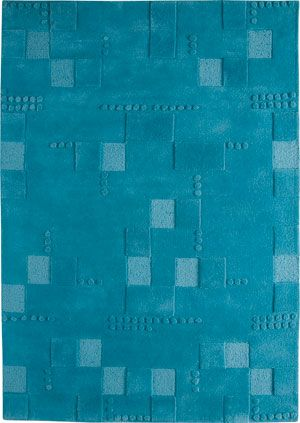 Miami Turquoise Rug I Like This With The Different Shades And Simple Pattern