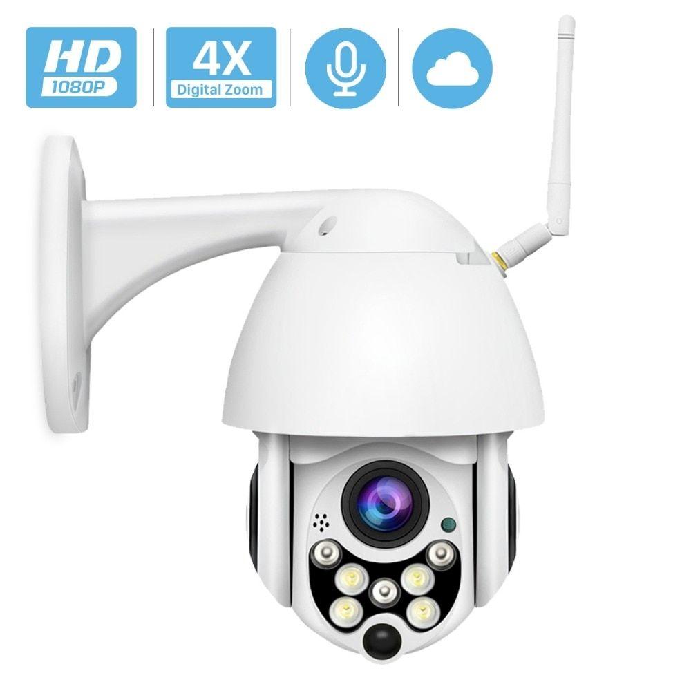 4X 1080P HD YI Cloud Wireless Wifi IP Security Camera Pan//Tilt Zoom Night Vision