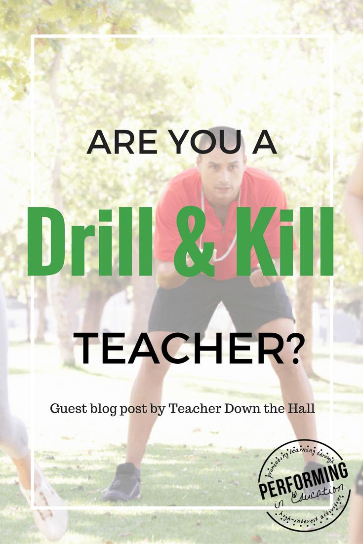 Ideas for Math Drills: Am I a drill and kill teacher? Make it fun ...