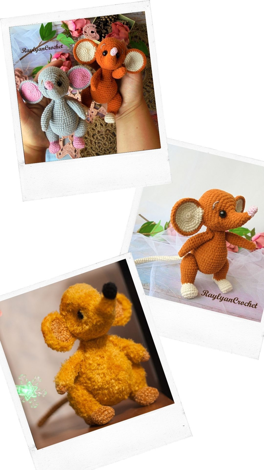 Squeak the Mouse cute amigurumi crochet pattern sm