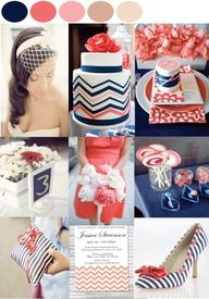 more coral and blue wedding ideas!!!