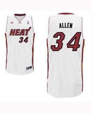 buy online 136ad f6e0d adidas Miami Heat Ray Allen Swingman Home Jersey | NBA ...