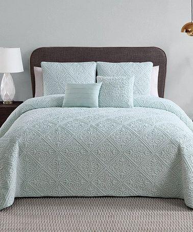 Love This Blue Westland Five Piece Comforter Set On